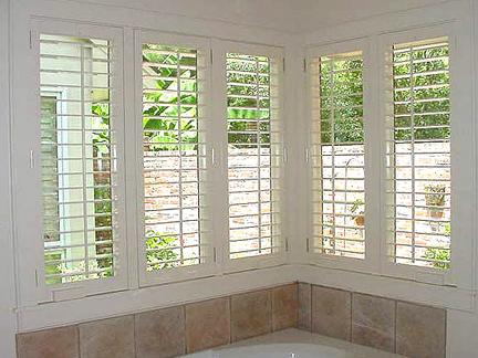 Interior Shutters - Bathroom shutters interior